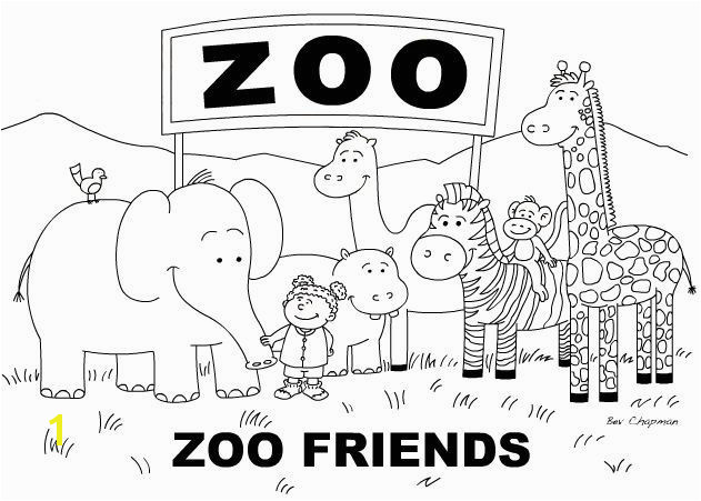 Free zoo coloring page toddler lesson plan