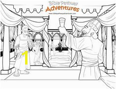 Free Bible Coloring Page Party With The King of Persia