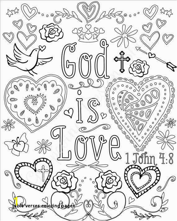 Free Printable Bible Coloring Pages with Scriptures Lovely Bible Verses Coloring Pages Bible Coloring Pages Free
