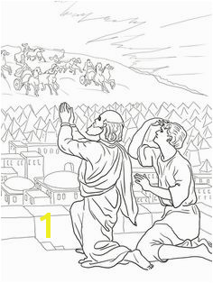 Elisha Fiery Army coloring page from Prophet Elisha category Select from printable crafts of cartoons nature animals Bible and many more