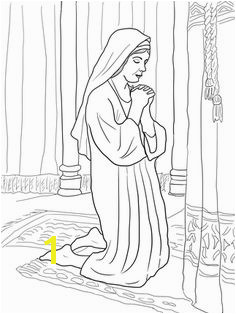 Hannah is faithfulness Hannah Prays for a Son coloring page from Prophet Samuel category Select from printable crafts of cartoons nature animals