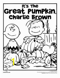 It s the Great Pumpkin Charlie Brown Coloring Page woojr Charlie Brown Halloween