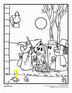 It s the Great Pumpkin Charlie Brown Coloring Pages Peanuts Gang Trick or Treating Coloring Page – Cartoon Jr