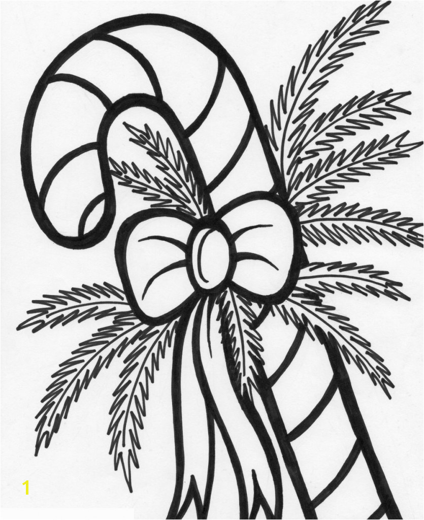 christmas colouring pages of candy canes with cane coloring page free printable throughout gamz me