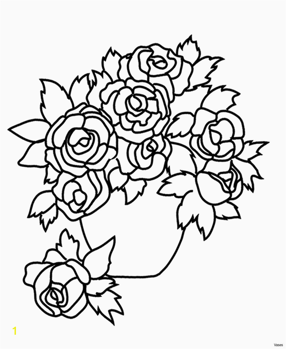 Printable Coloring Pages Flowers and butterflies Design Coloring Pages Beautiful Vases Flowers In Vase
