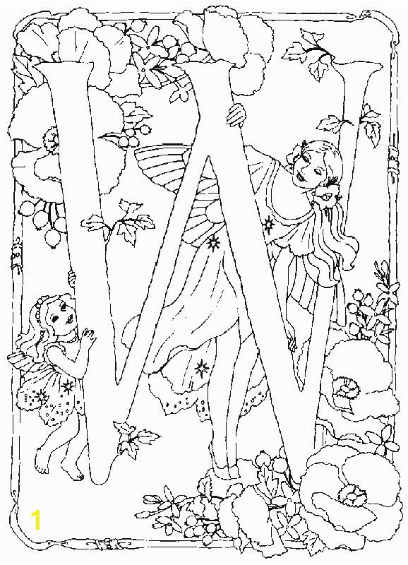 Free Printable Coloring Pages for Adults Dark Fairies Alphabet Fairy W Coloring Pages In This Page You Can Find Free