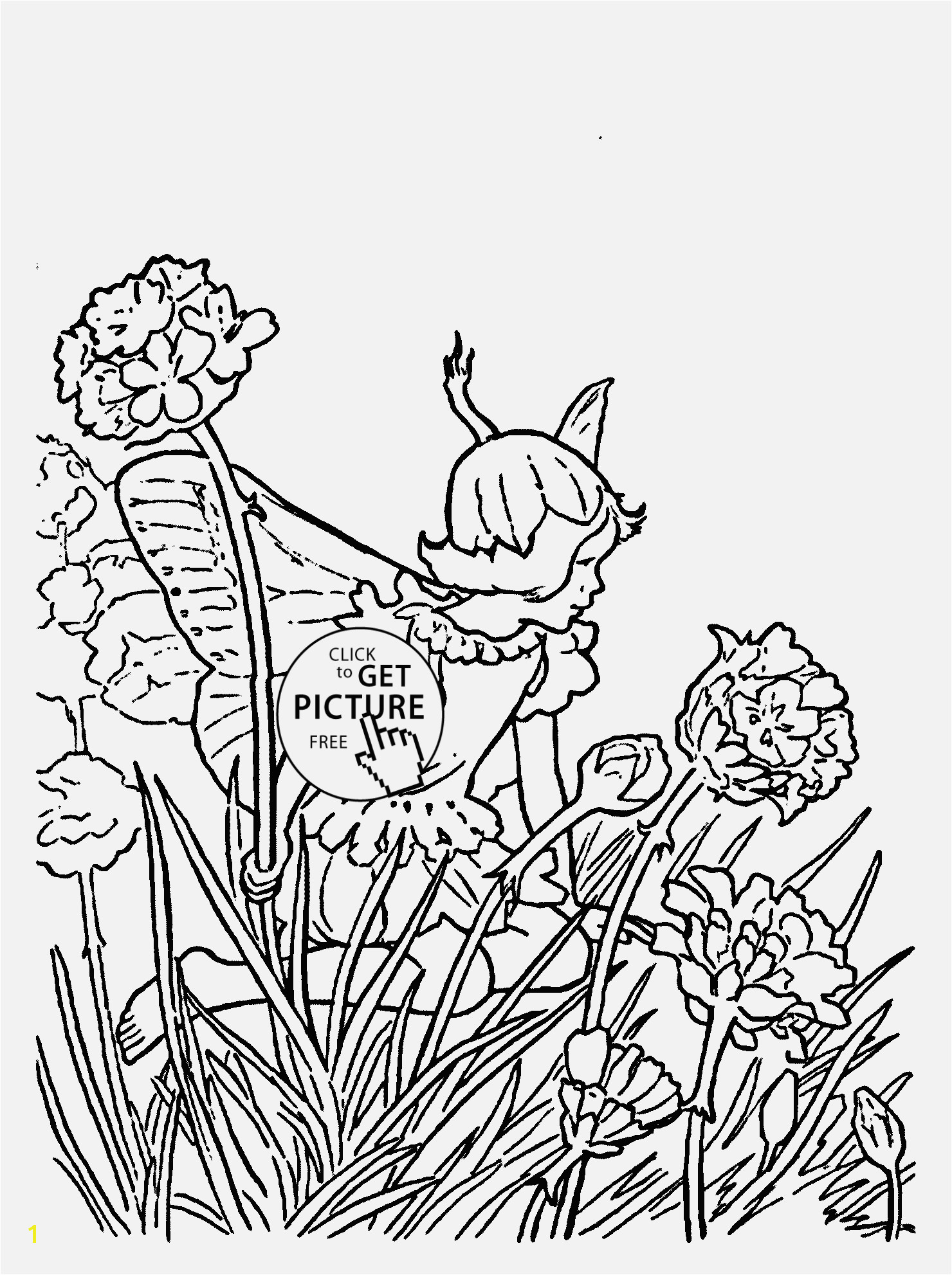 Free Coloring Pages for Girls the First Ever Custom Flower Fairy Thrift Coloring Page for Kids