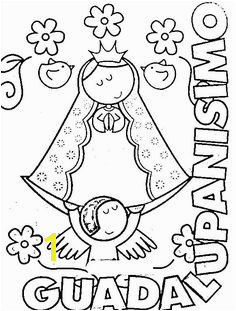 Modern Virgin Guadalupe coloring pages virgencita our lady printabled pages