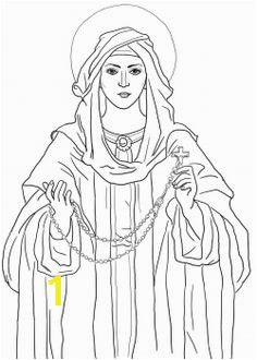 Our Lady of the Rosary coloring page from Church category Select from printable crafts of cartoons nature animals Bible and many more