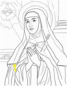 St Teresa of Avila Catholic Coloring Page Preschool Coloring Pages Free Printable Coloring Pages