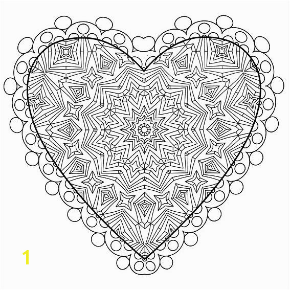 An intricate Valentine s Day coloring page Coloring Book