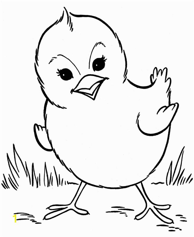 Farm animal chicken coloring page