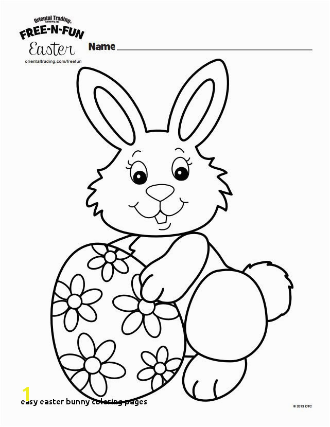 Easy Easter Bunny Coloring Pages 231 Free Printable Easter Bunny Coloring Pages