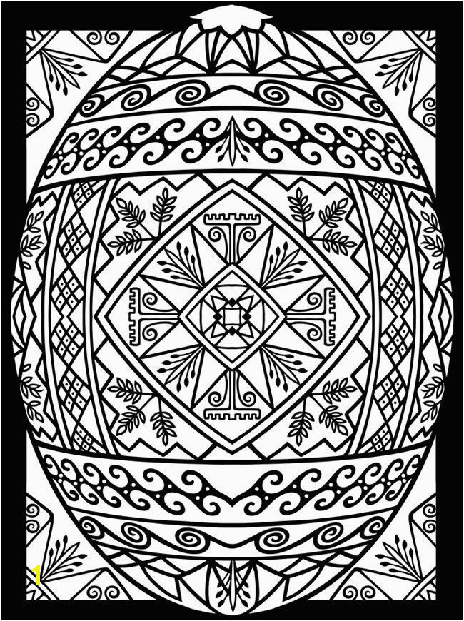 Free Easter Egg Printable Coloring Page for Adults