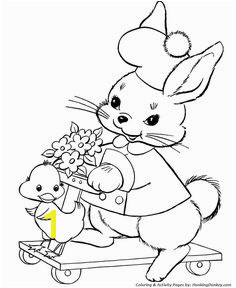 Easter Bunny Coloring Pages Scooter Bunny free printable easter bunny coloring pages for kids Easter coloring activities