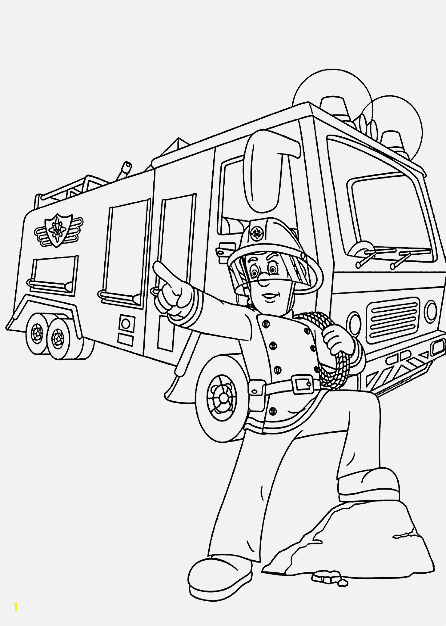 Feuerwehrmann Sam Malvorlage Spannende Coloring Bilder Firetruck Coloring Pages for Kids Printable Free Pinterest