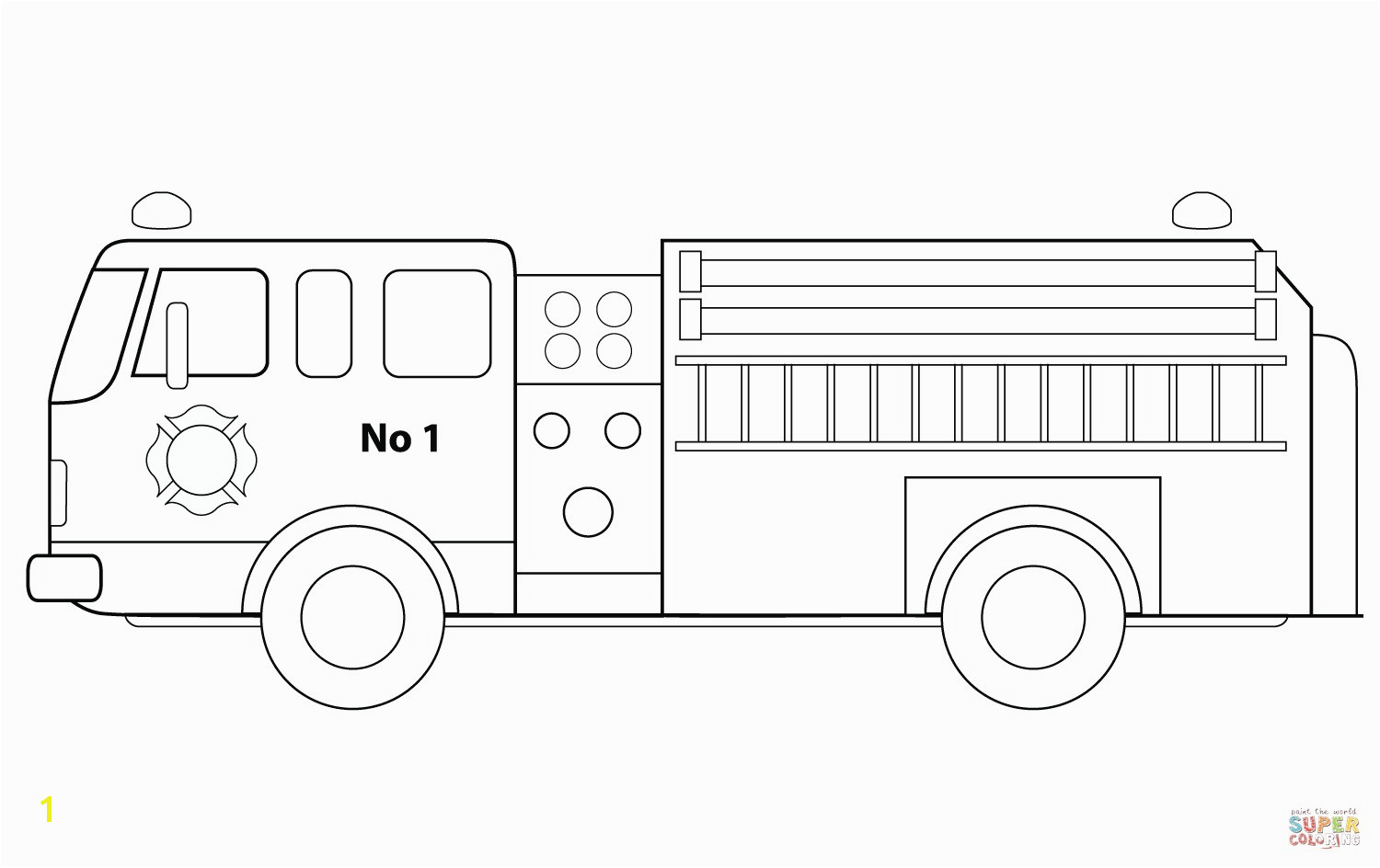 Fire Truck Coloring Pages Free Fire Truck Coloring Pages Printable Inspirational 24 Fire Truck Coloring