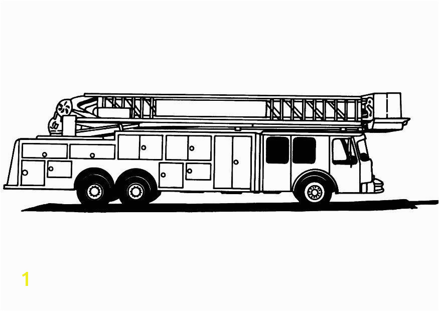 Fire Truck Coloring Page For Kids