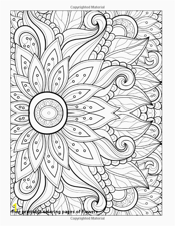 Coloring Pages Printable Flowers Unique Free Printable Coloring Pages Flowers Flower Coloring Sheets for