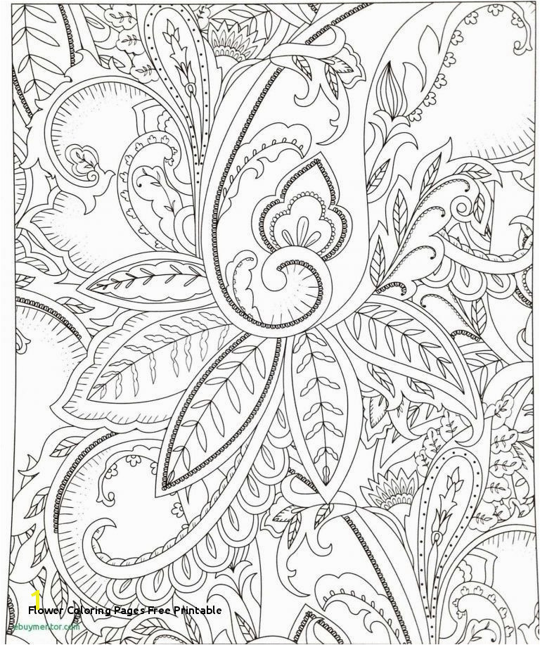 Flower Coloring Pages for Adults Awesome Flower Coloring Pages Free Printable Free Christmas Color Pages for