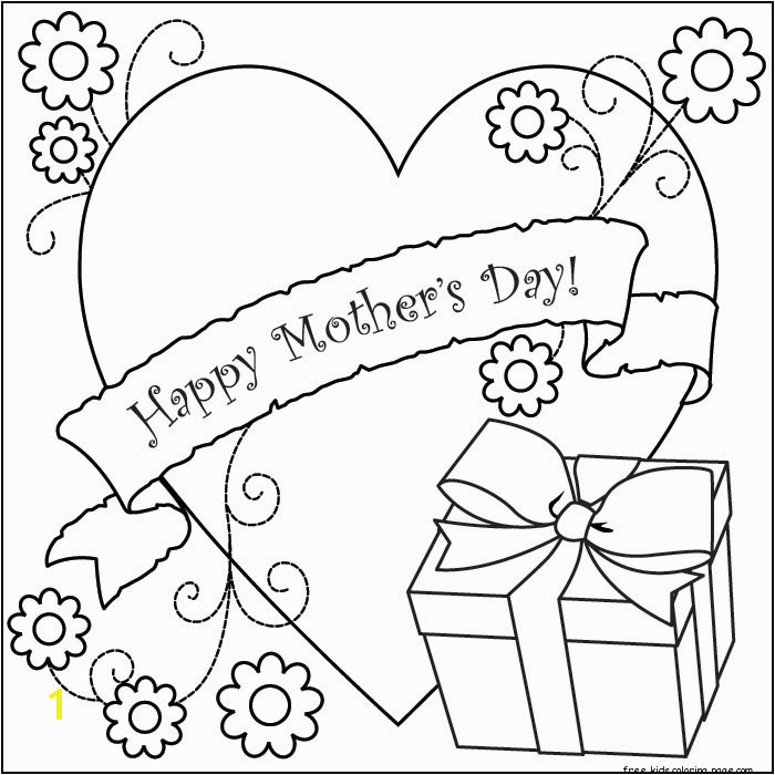 printable happy mothers day kids coloring pages