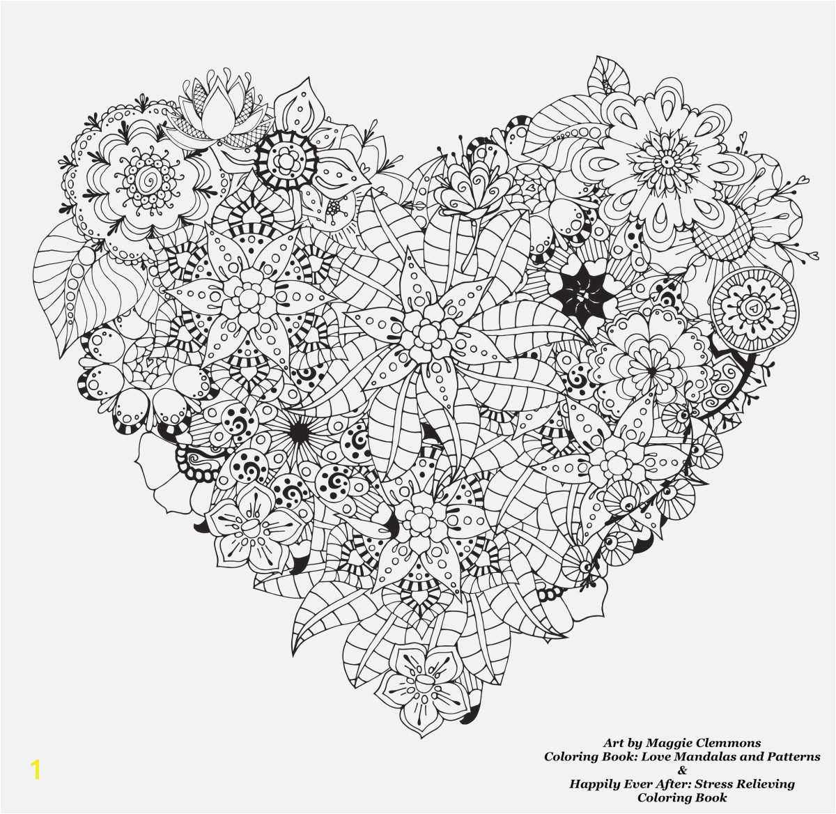 Stress Relief Coloring Books Free Download Best Coloring Page for Adult Od Kids Simple Floral Heart