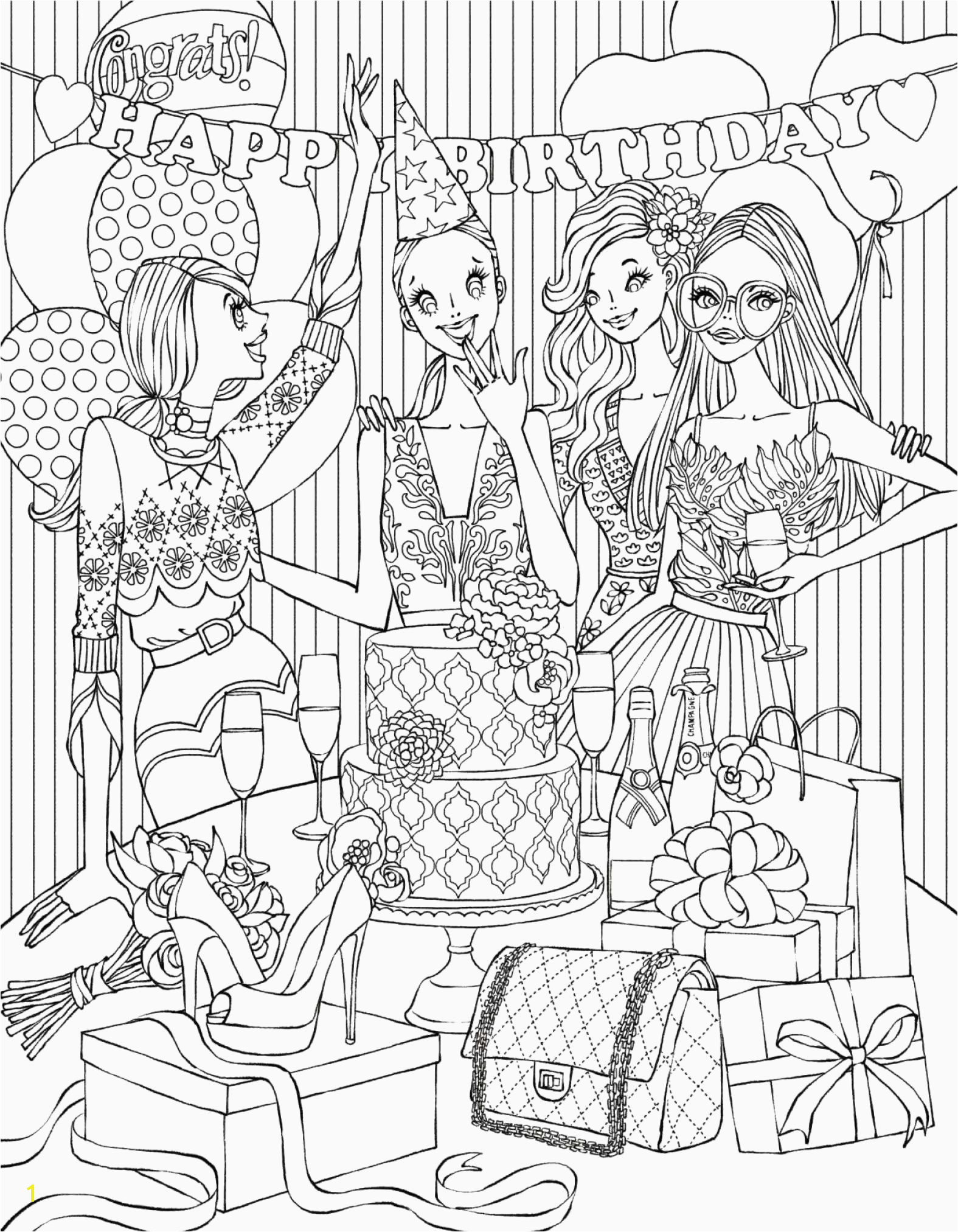 37 New Gallery Printable Holiday Coloring Pages