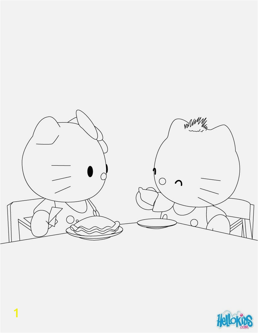 Hello Kitty Printable Coloring Pages Coloring & Activity Hello Kitty Coloring Pages Birthday New Best Od