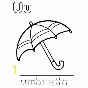 Letter U 9 Print the pdf Umbrella Coloring Page