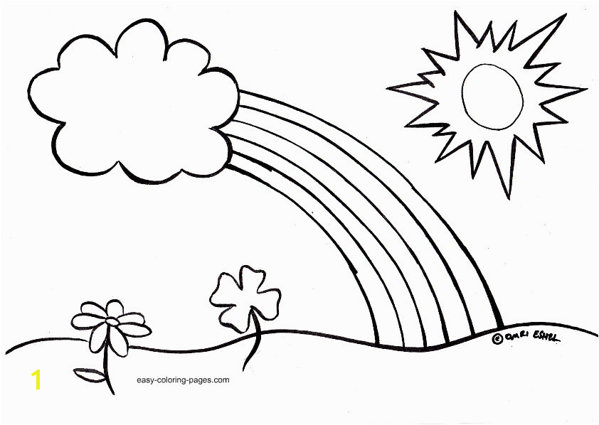 Easy Spring Coloring Pages for Kids Printable Coloring Sheet Simple Coloring Pages toddlers