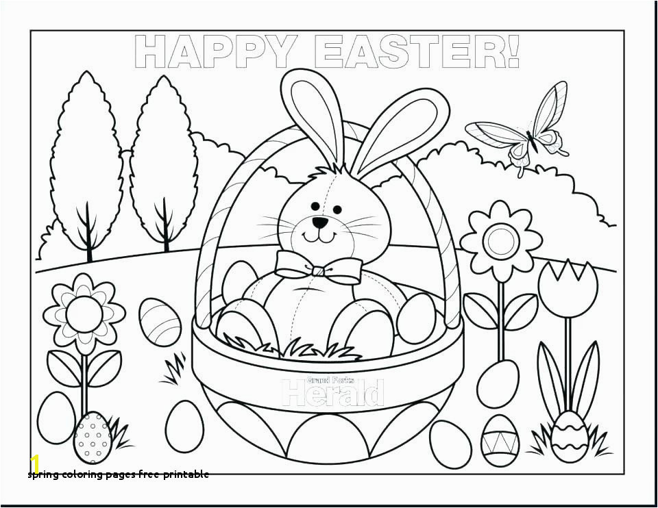 Spring Coloring Pages Free Printable New Free Spring Printable Coloring Pages for Kids for Adults In