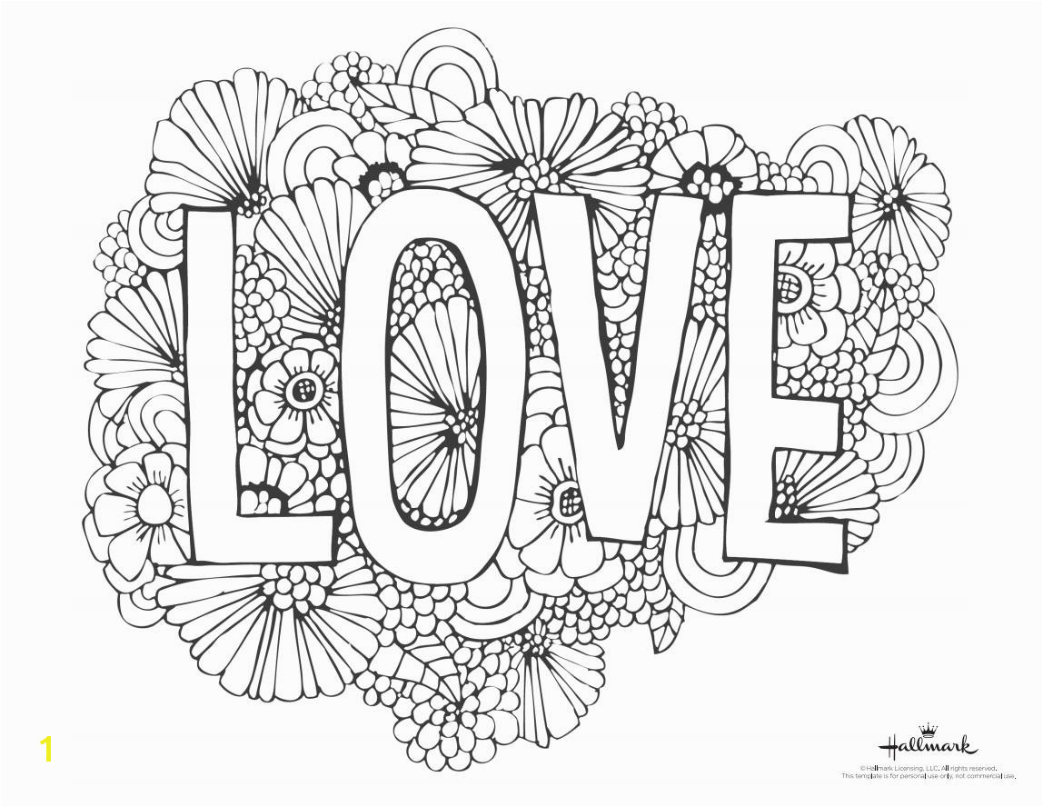 "A Valentine s Day coloring page with the word ""Love"" and"