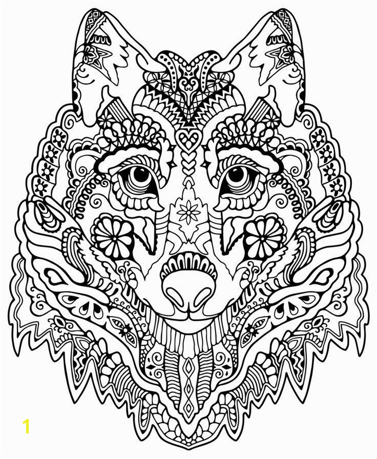 Pattern animal coloring pages and print for free