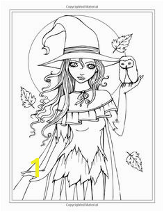 Autumn Fantasy Coloring Book Halloween Witches Vampires and Autumn Fairies… Free Coloring Pages