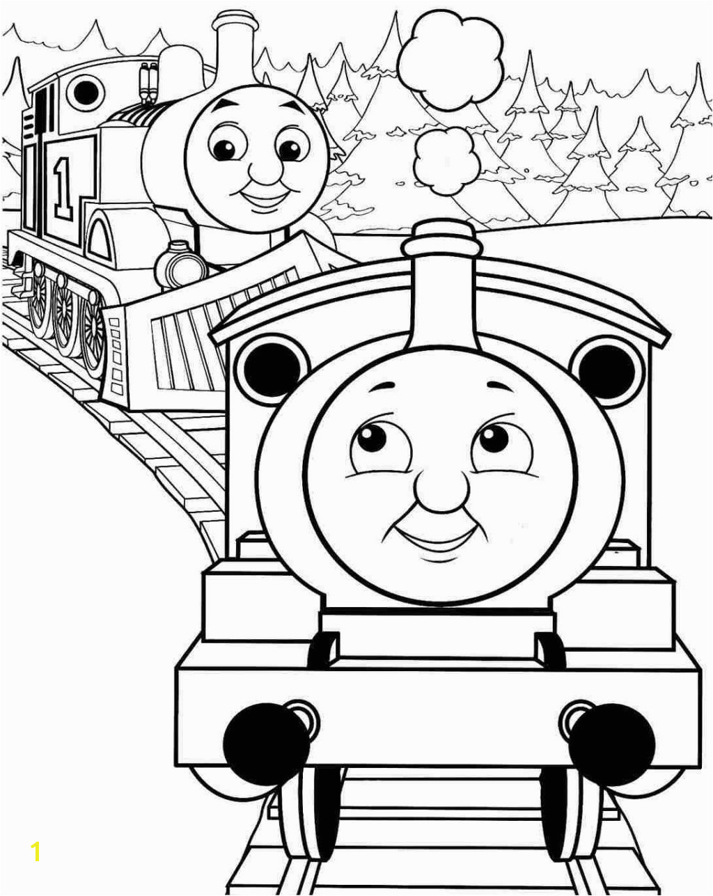 Free Thomas the Train Coloring Pages Simple Thomas the Train Coloring Pages · Thomas the Train Coloring