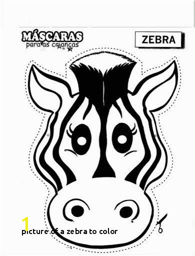 Stock Picture A Zebra to Color Zebra Mask Free Coloring Pages