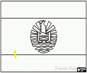 Flag of French Polynesia · Flag of Nauru coloring page