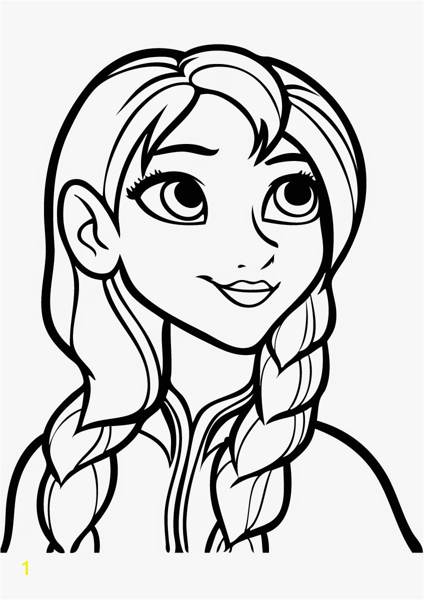 coloring pages frozen anna