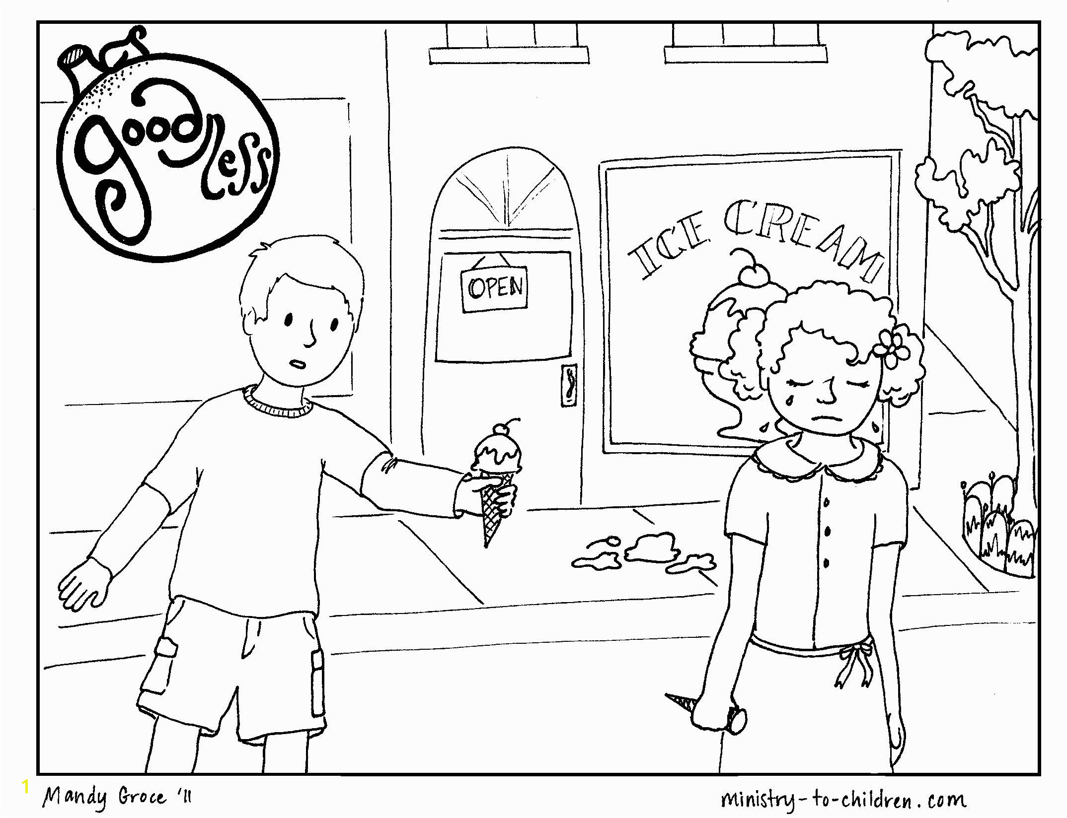 Fruit Of the Spirit Goodness Coloring Page Free Coloring Pages