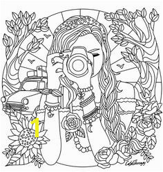Camera Coloring Pages Girl With A Camera Coloring Page Coloring Pages For Adults For Kids Girls
