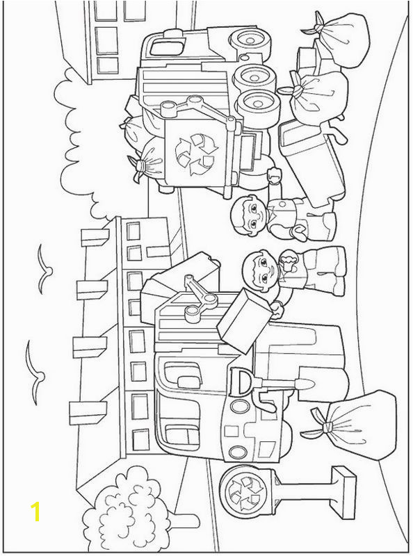 Lego Duplo Coloring Garbage Day · Free Printable Coloring PagesLego garbage pail kids coloring pages