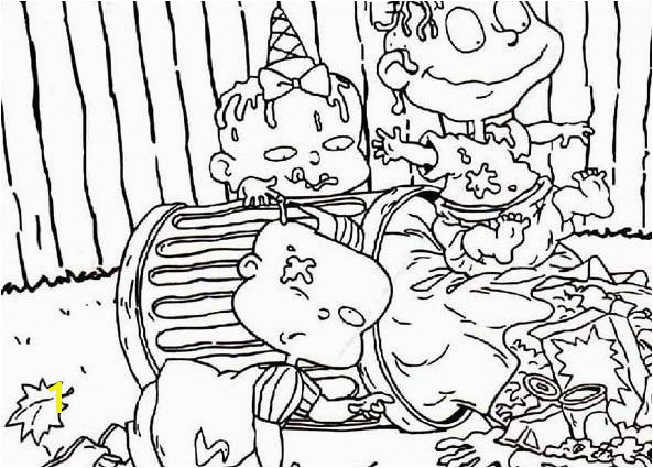 593x425 garbage can coloring page the rugrats is dirty they play in