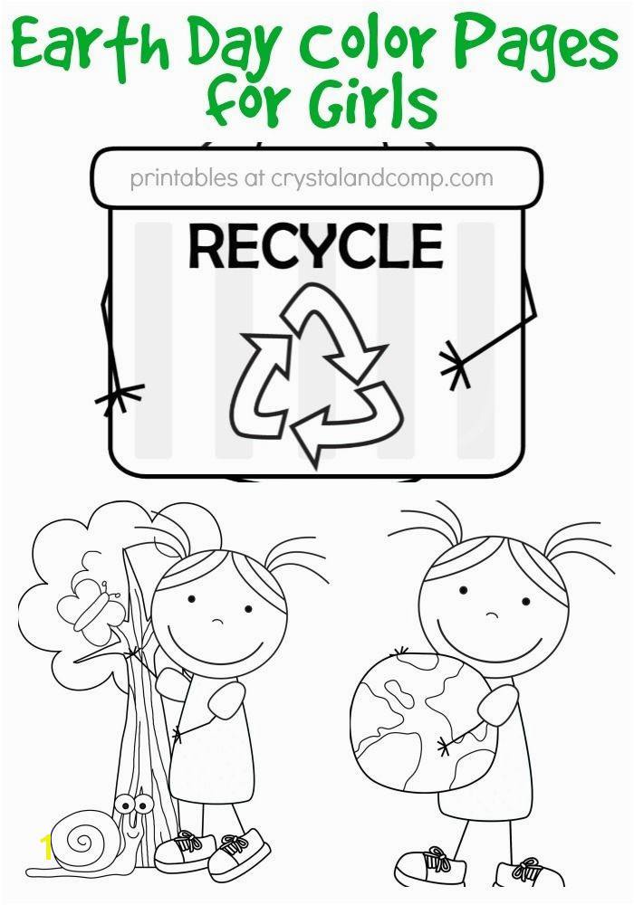 kid color pages earth day for girls garbage pail kids coloring
