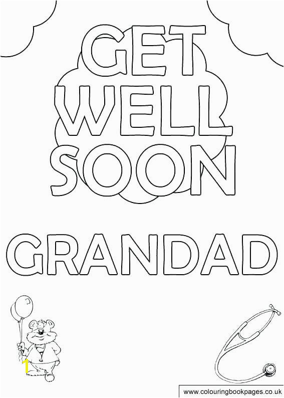 Get Well soon Coloring Pages New Get Well soon Daddy Coloring Pages Coloring Get Well Cards