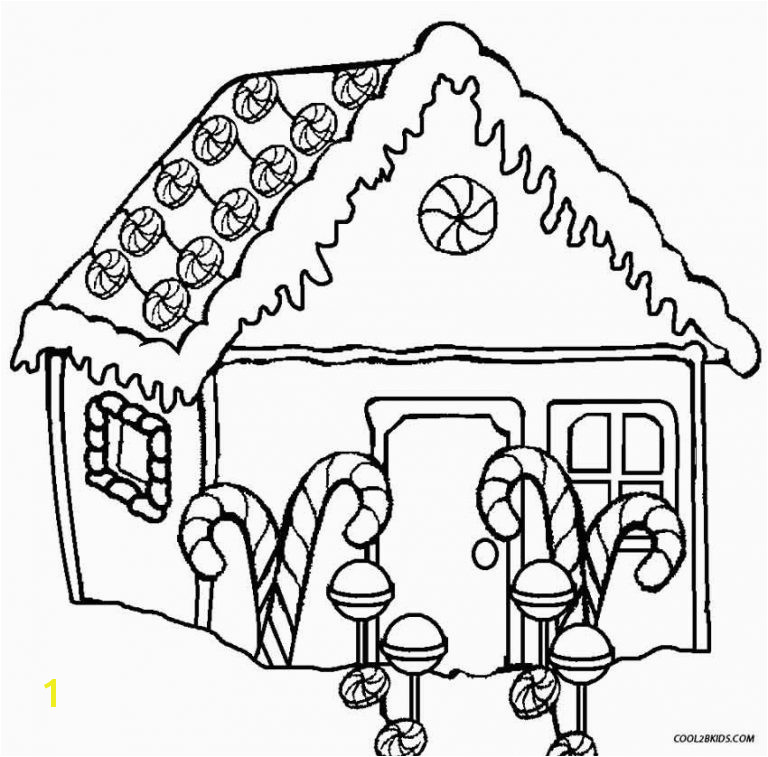 Gingerbread House Coloring Pages Fresh Printable for Kids Cool2bkids Free Adult Coloring Pages Awesome Cool