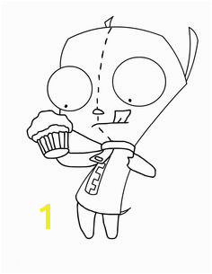 Invader Zim Preparing To Eat Cake