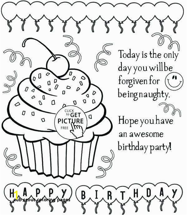 Cub Scout Coloring Pages Girl Scout Birthday Coloring Pages Free Luxury Pin by Blooming Bush
