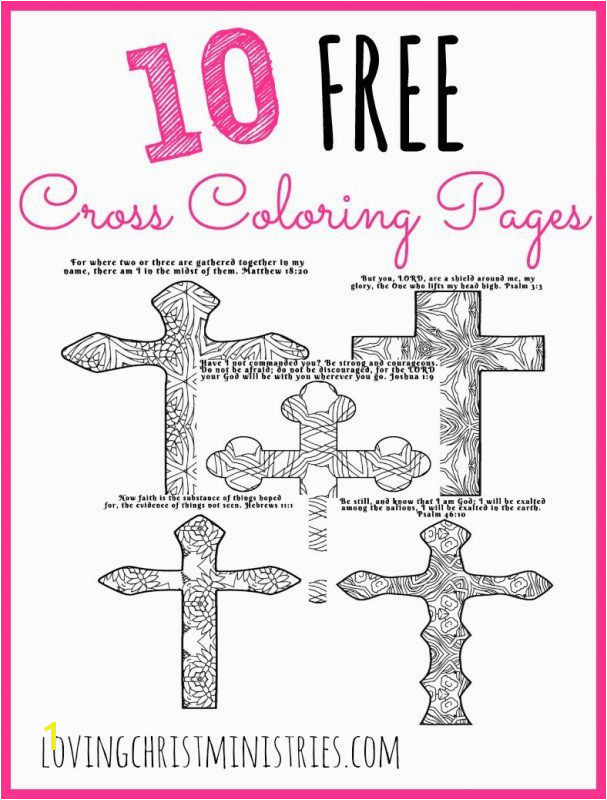 10 FREE cross coloring pages each has its own verse and an original pattern to color They re perfect for quiet time in reflection and prayer with God