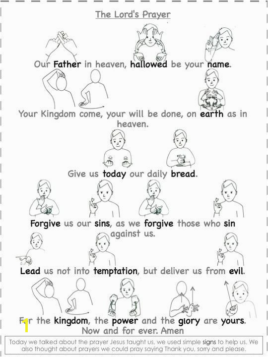 Worship & Praise The Lord s Prayer In Sign Language Teacher Stuff Pinterest
