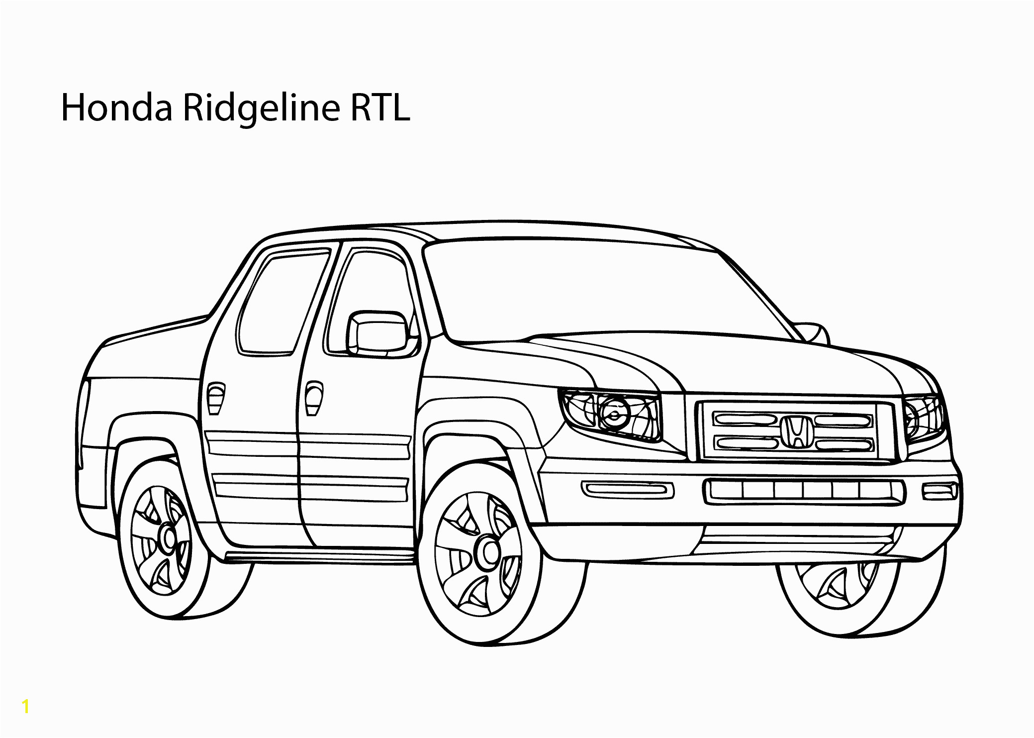 Super car Honda Ridgeline coloring page cool car printable free Coloring Pages For Kids